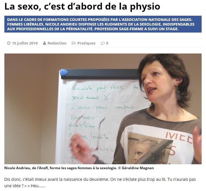 revue de presse Nicole Andrieu